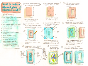 Stained Glass Accordion Book instructions page 1