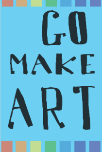 Go Make Art inspiration card - freebie - benttuba.com