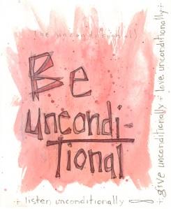 Aspiration Card: Be Unconditional - benttuba.com
