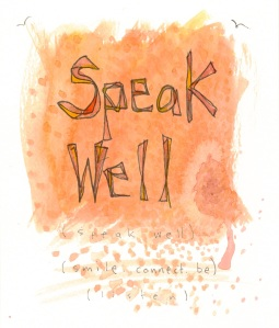 Aspiration Card: Speak Well - benttuba.com
