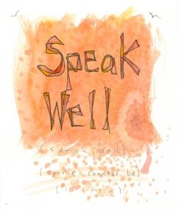 Aspiration Card: Speak Well - benttuba.com